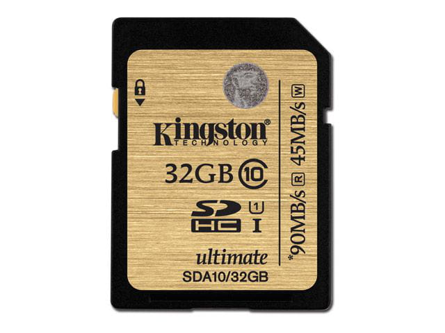 Cartao de memoria classe 10 kingston sda10/32gb secure digital ultimate sdhc 32gb uhs-i