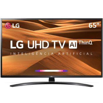 Tv 65p lg led smart wifi 4k usb hdmi comando voz - 65um7470psa.awz
