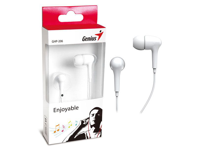 Earphone Genius GHP-206 Branco Intra Auricular - 31710192101