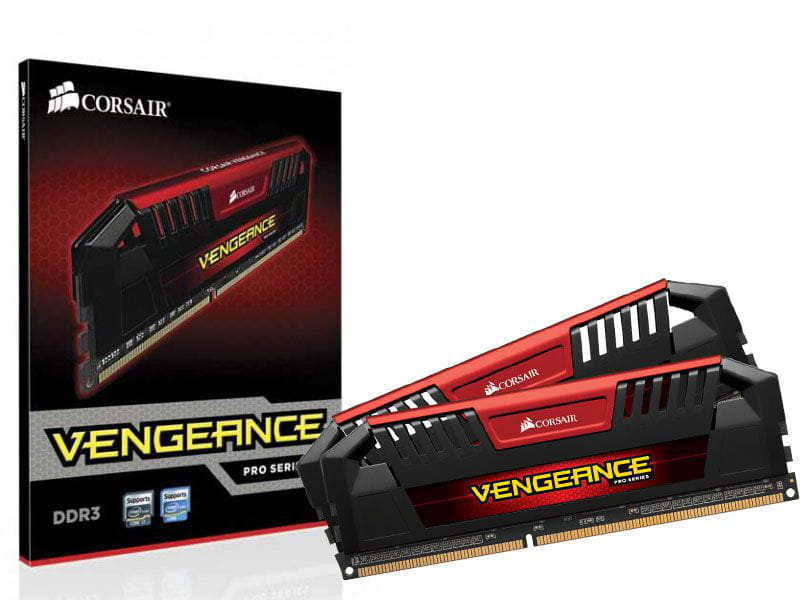Memoria desktop gamer ddr3 corsair cmy16gx3m2a2400c11r 16gb kit (2x8gb) 2400mhz dimm cl11 vengeance pro red xmp 1.35v/1.65v