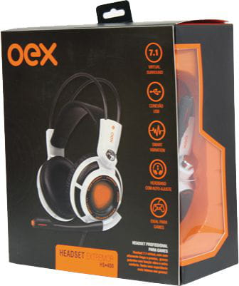 Headset Gamer Extremor Hs400 Usb Branco Oex