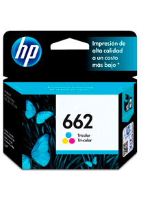 Cartucho de tinta color HP 662 original (CZ104AB)