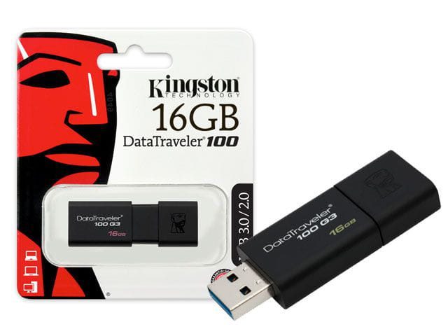 Pen Drive 16GB Kingston USB3.0 Datatraveler 100 Generation - DT100G3/16GB