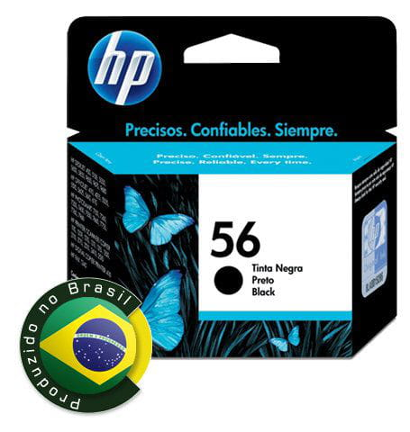 Cartucho HP 56 Preto 19ml - C6656AB