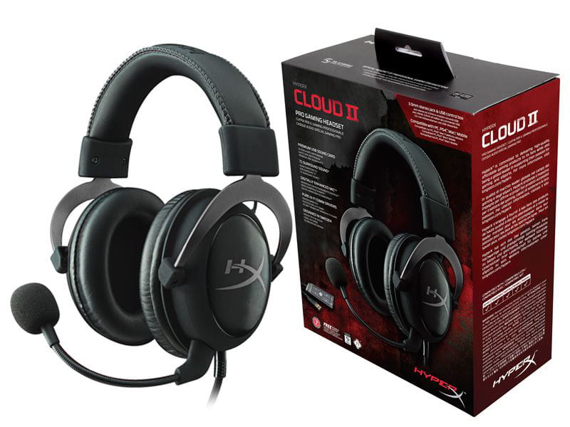 Headset gamer hyperx khx-hscp-gm cloud ii preto/cinza