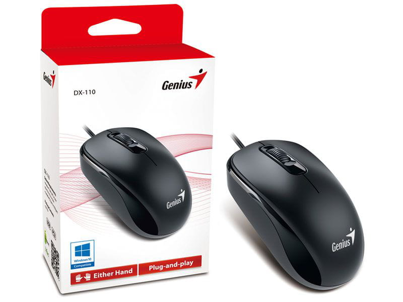 Mouse genius 31010116100 dx-110 usb preto