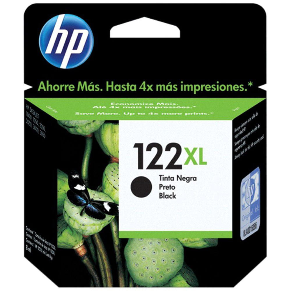 CARTUCHO HP 122XL PRETO ALTO RENDIMENTO 8,5ML - CH563HB