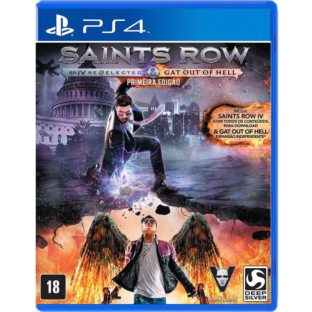 JOGO SAINTS ROW IV + GAT OUT OF HELL - PS4