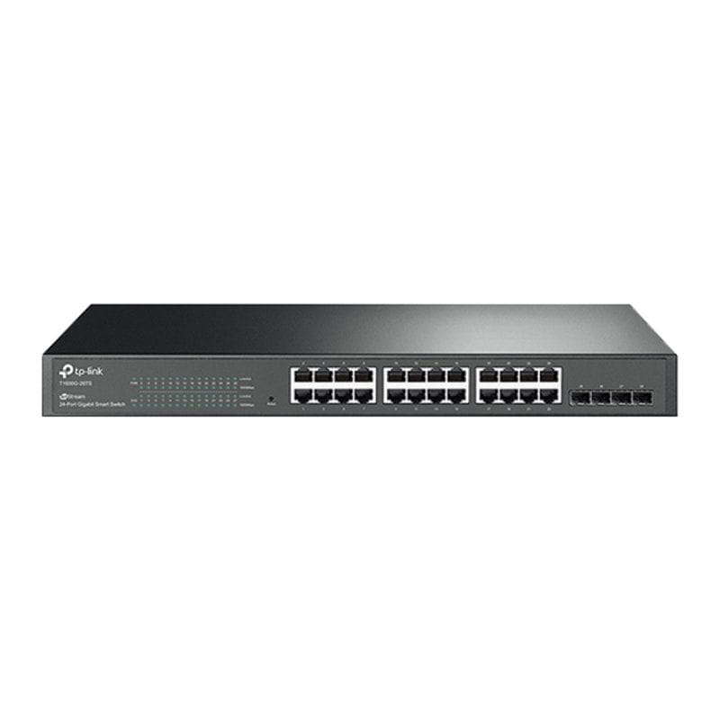 Switch Gerenciável L2 Smart Gigabit C/ 24 p + 4 Slots Sfp Jetstream T1600g-28ts (tl-sg2424) Smb