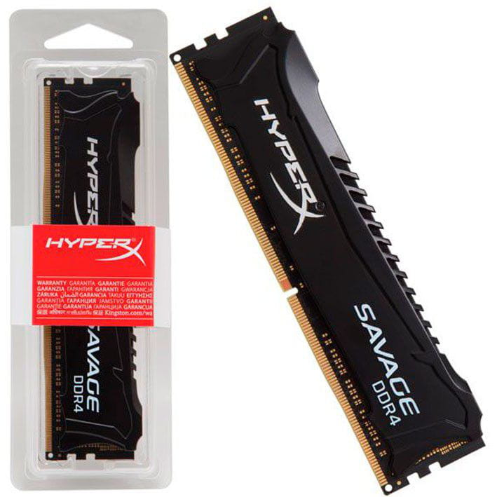 Memória DDR4 8GB 3000MHz Kingston Hyperx Savage Cl15 Black - HX430C15SB2/8