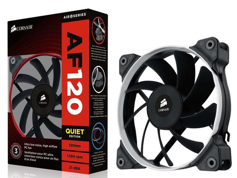 Cooler fan para gabinete corsair co-9050003-ww af120 120mm performance edition high airflow
