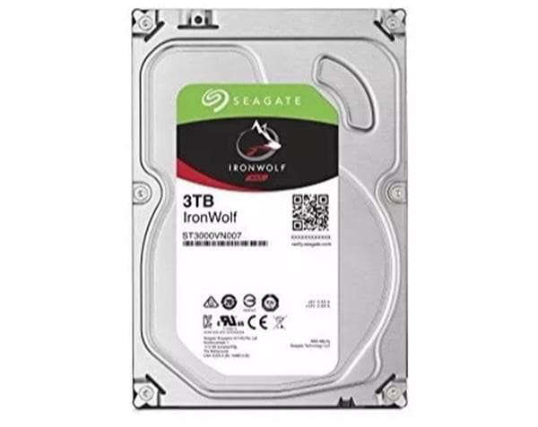 Hdd seagate ironwolf 3 tb p/ nas - st3000vn007