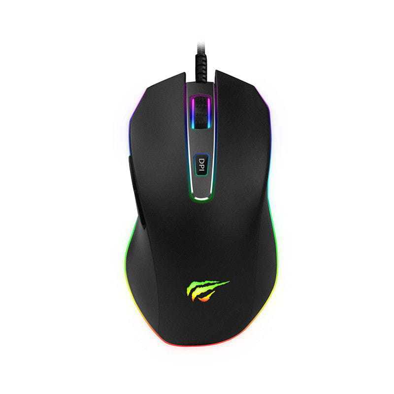 Mouse Gamer Havit HV-MS837 RGB 7 BOTÕES 7000 DPI PRETO