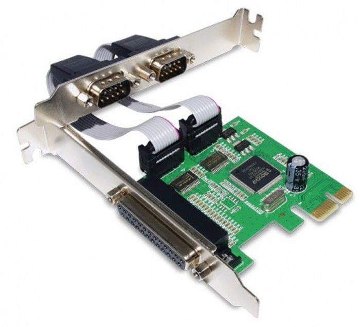 Placa PCI Express Multi Serial - 2 Serial + 1 Paralela
