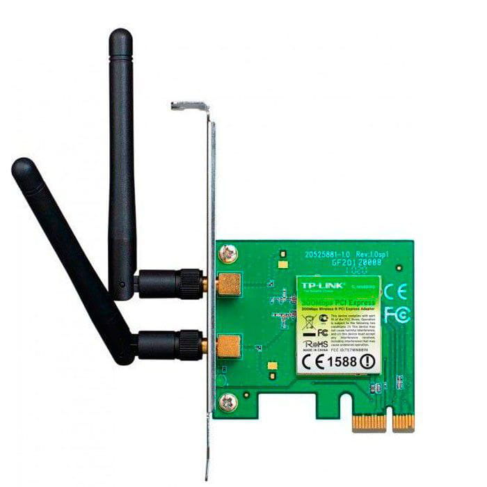 Placa de Rede Wireless PCI-E TP-Link 300Mpbs 802.11b/g/n 2 Antenas - TL-WN881ND