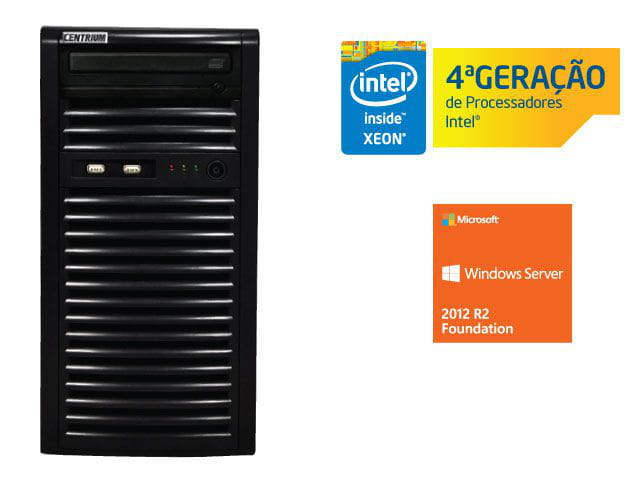 Servidor torre intel windows server centrium sc-t1200 quad core xeon 1231v3 3.4ghz 4gb udimm 500gb 2012 foundation 15 usuarios