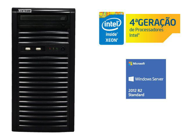 Servidor torre intel windows server centrium sc-t1200 quad core xeon 1231v3 3.4ghz 4gb udimm 500gb 2012 standard