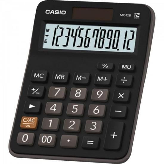 Calculadora de Mesa MX-12B TWO WAY POWER Preta CASIO