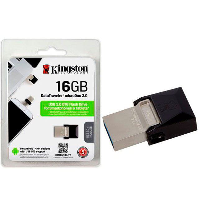 Pen Drive 16GB Kingston DT Micro Duo USB e Micro USB3.0 - DTDUO3/16GB