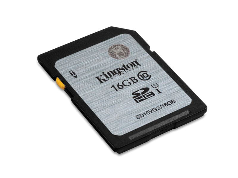 Cartao de memoria classe 10 kingston sd10vg2/16gb secure digital sdhc 16gb uhs-i