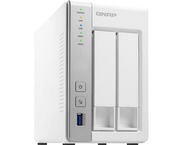 Storage nas qnap 2-bay ts-231p personal cloud nas with dlna arm cortex a15 1.7ghz dual core 1gb ram