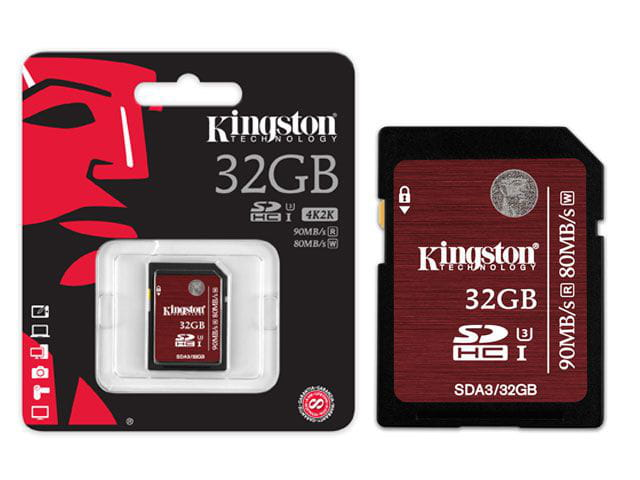 Cartão de Memoria Classe 10 Kingston SDA3/32GB SDHC 32GB UHS-I U3 Ultimate