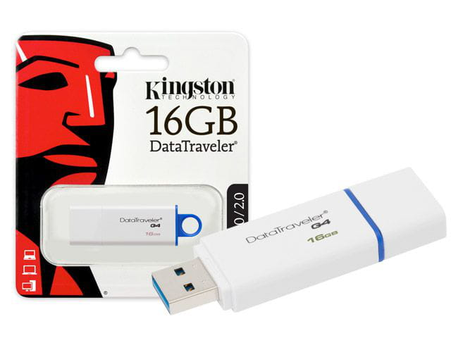 Pen drive usb 3.0 kingston dtig4/16gb datatraveler 16gb generation 4 azul