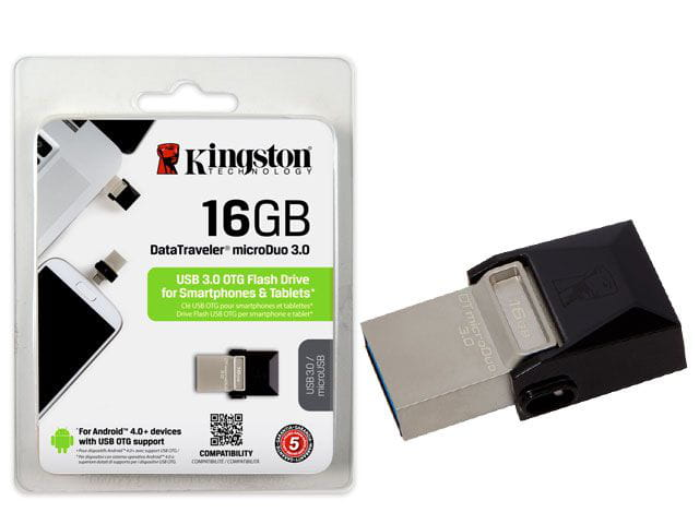 Pen drive smartphone kingston dtduo3/16gb dt micro duo 16gb usb e micro usb 3.0 otg
