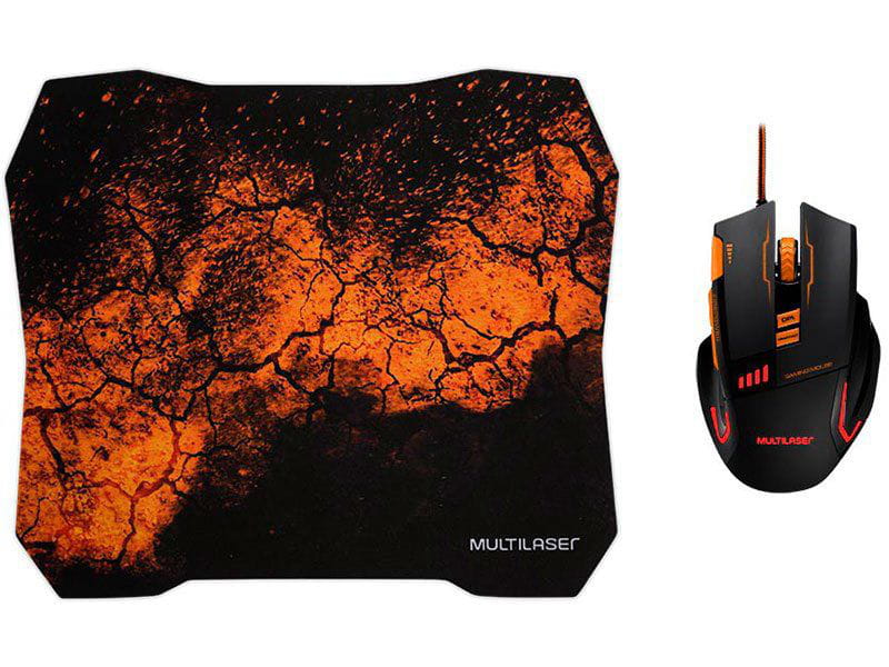 Mouse Com Fio Mouse Mo256 Optico Gamer 3200dpi Com 08 Botoes e Mouse Pad Quickfire