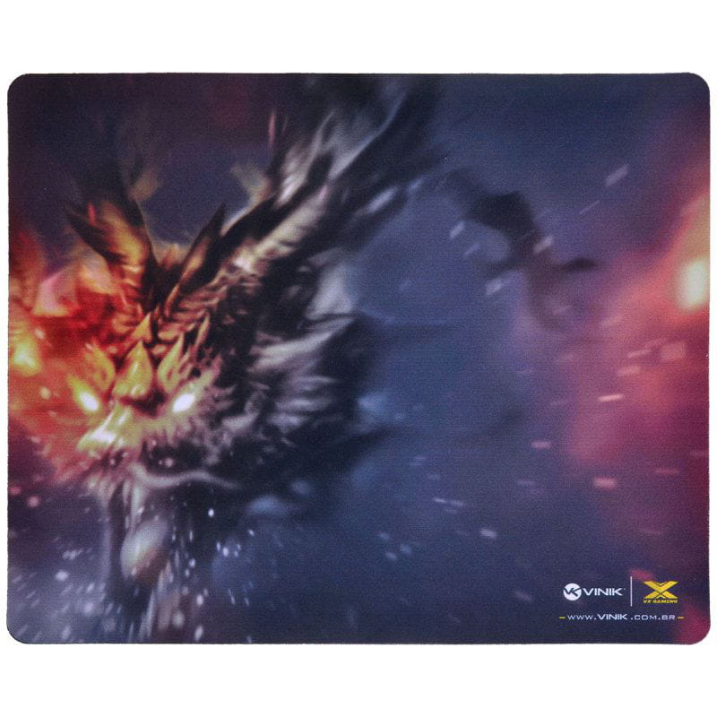 Mouse Pad Vinik VX Gaming Fire Dragon - 320x270x2mm