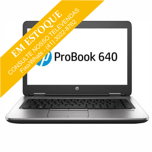 Notebook HP Probook 640 G2 Intel Core i5 6300U 2.40GHz - HD 500GB - 4GB DDR4 - 14