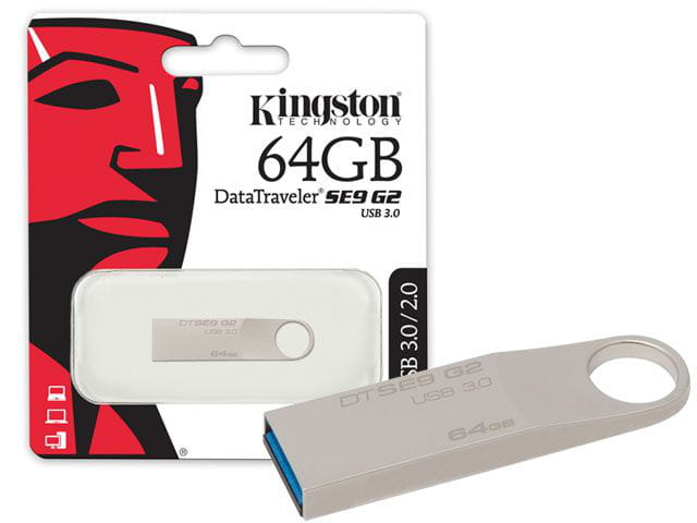 Pen drive usb 3.0 kingston dtse9g2/64gb datatraveler se9 g2 64gb prata
