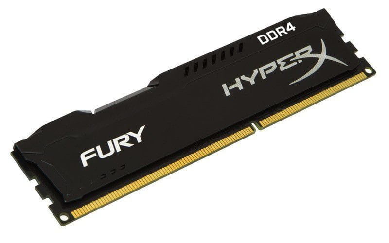 Memoria desktop gamer ddr4 hyperx hx424c15fb/4 fury 4gb 2400mhz non-ecc cl15 dimm black