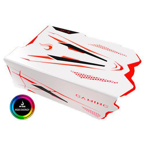 Cover PSU Rise Gaming RS1 Branco Led RGB MOLEX/MOTHERBOARD - RM-CF-02-RS