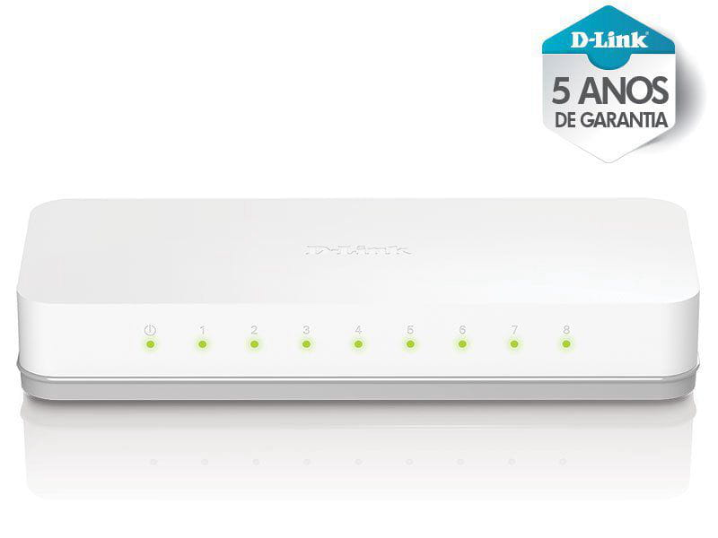 Switch Fast Switch Des-1008c 8 Portas Fast Ethernet