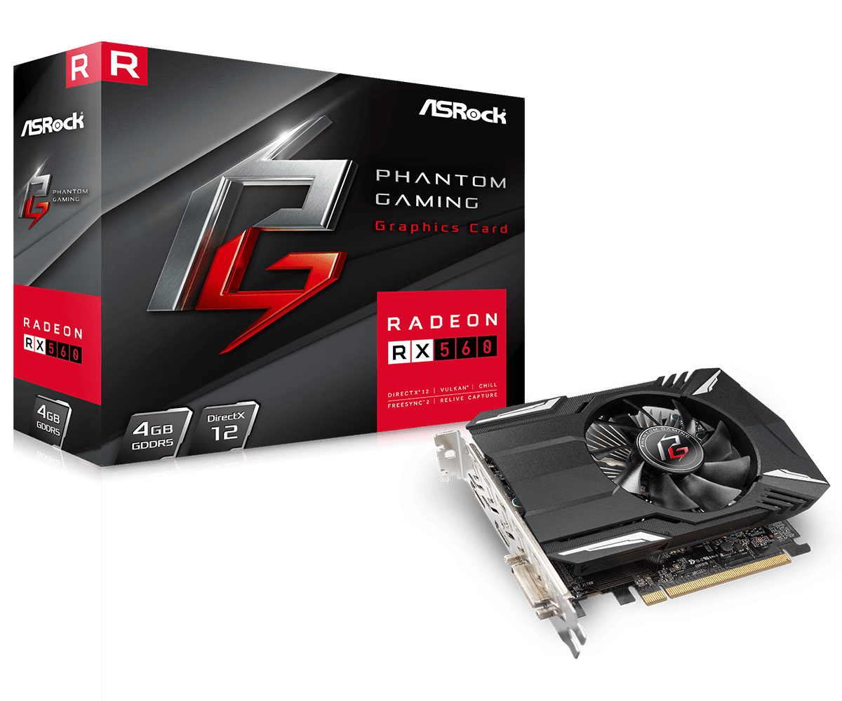 Placa de Vídeo ATI RX550 Asrock 2GB DDR5 128 bits - RX 550 2GB PHANTOM GAMING
