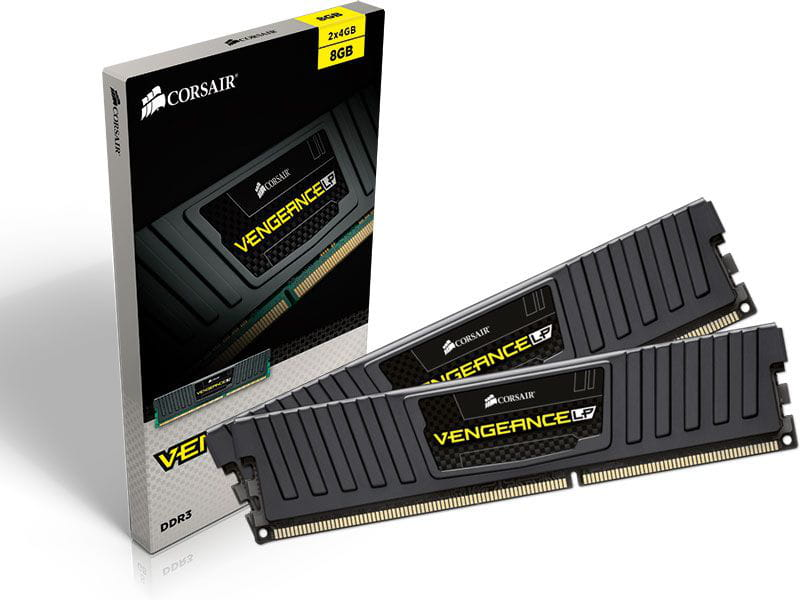 Memoria desktop gamer ddr3 corsair cml8gx3m2a1600c9 8gb kit (2x4gb) 1600mhz dimm cl9 vengeance lp black 1.5v