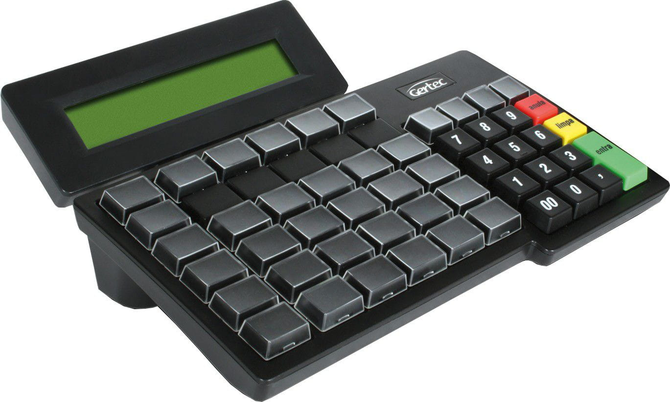 Teclado Gertec PDV TEC 55 com Display USB