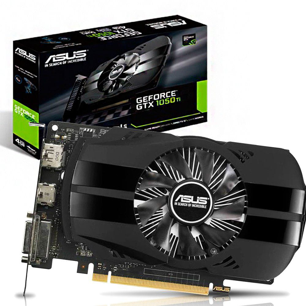 Placa de Video Nvidia GTX1050TI 4GB Asus GDDR5 PH-GTX1050TI-4G