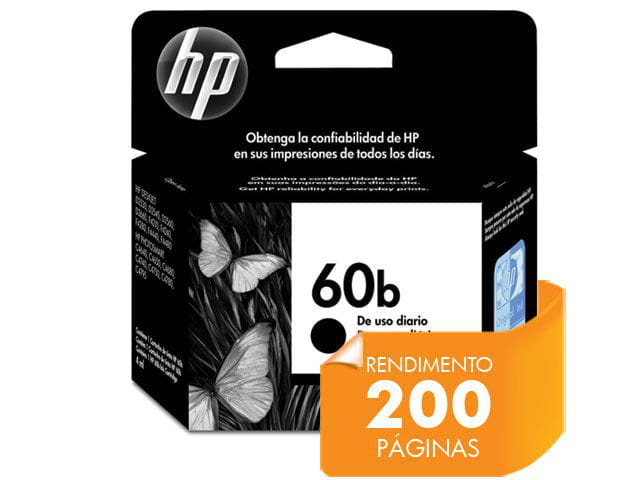 Cartucho de tinta everyday hp suprimentos cc636wb hp 60b edp preto 4,5ml