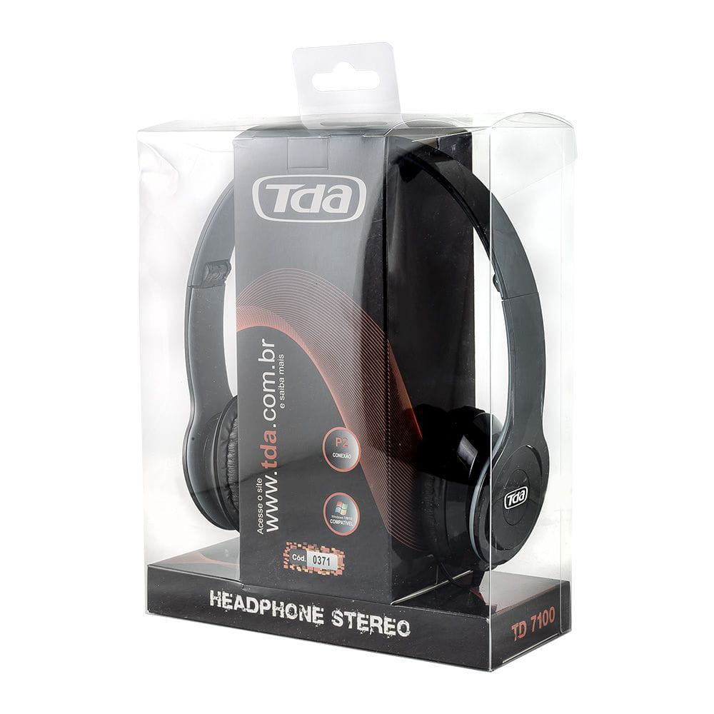 HEADPHONE BLACK PIANO P2 TD-7100 TDA