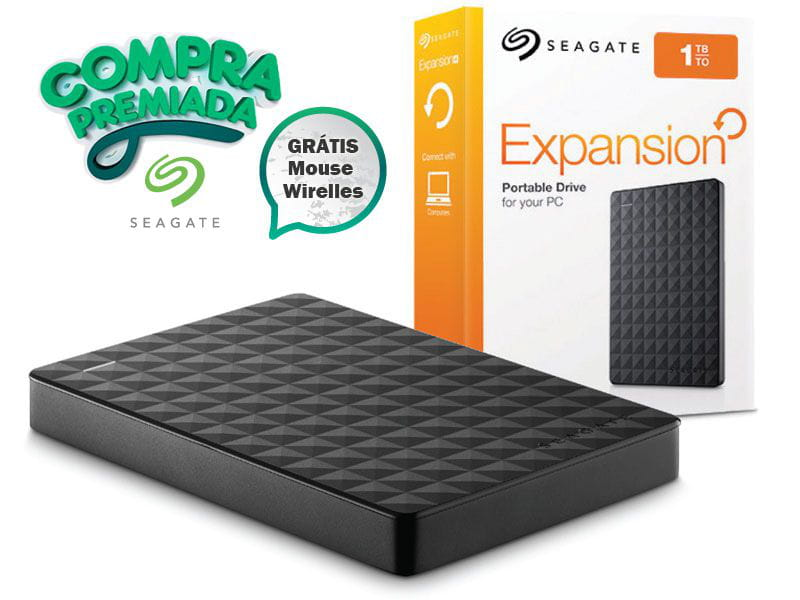 Hdd externo portatil  seagate stea1000400 expansion 1tera usb 3.0  #gratis mouse wireless