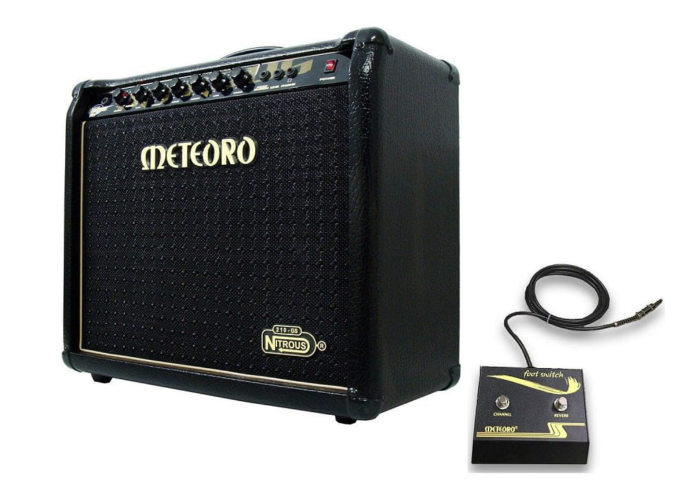 Cubo Amplificador Guitarra 100W RMS Pedal Footswitch NITROUS GS100 Preto - METEORO