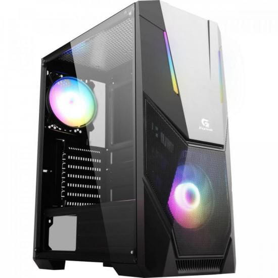 Gabinete Gamer Mid Tower BLACK HAWK RGB FORTREK