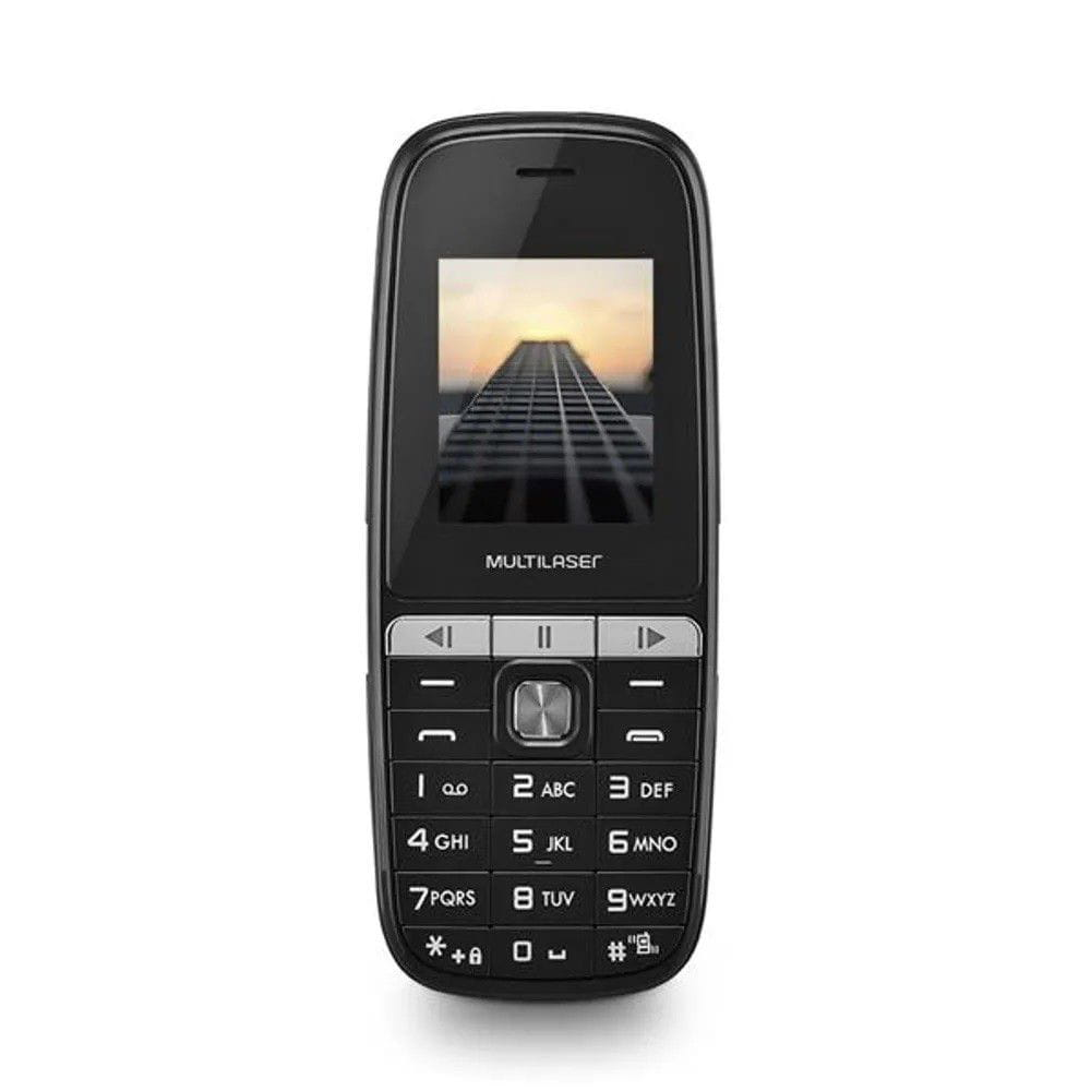 CELULAR MULTILASER UP PLAY  -2 CHIPS - BLUETOOTH -MP3 -2G - PRETO