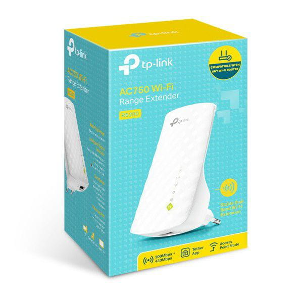 REPETIDOR WIRELESS AC 750 DUAL BAND TP-LINK RE200