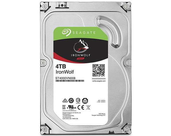 Hdd seagate ironwolf 4 tb p/ nas - st4000vn008