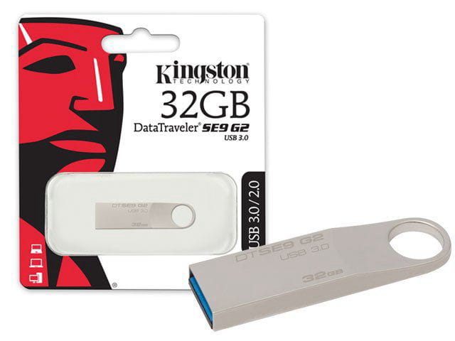 Pen Drive Usb 3.0 Kingston Dtse9g2-32gb Datatraveler Se9 G2 32gb Prata