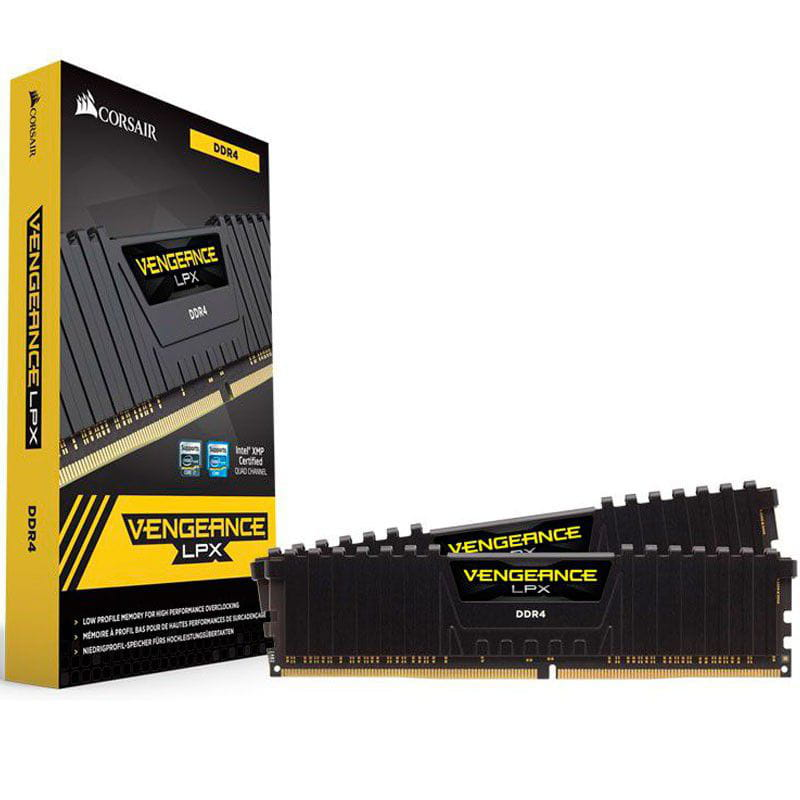 Memoria Desktop Gamer DDR4 32GB Vengeance Corsair Kit(2x16GB) 2133MHz Cl13 - CMK32GX4M2A2133C13