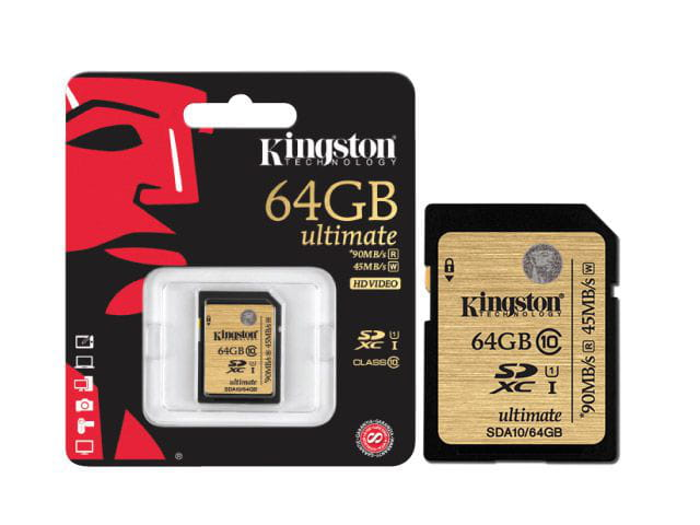 Cartao de Memória 64GB Classe 10 kingston SDA10/64GB Secure Digital Ultimate SDXC 64gb UHS-I